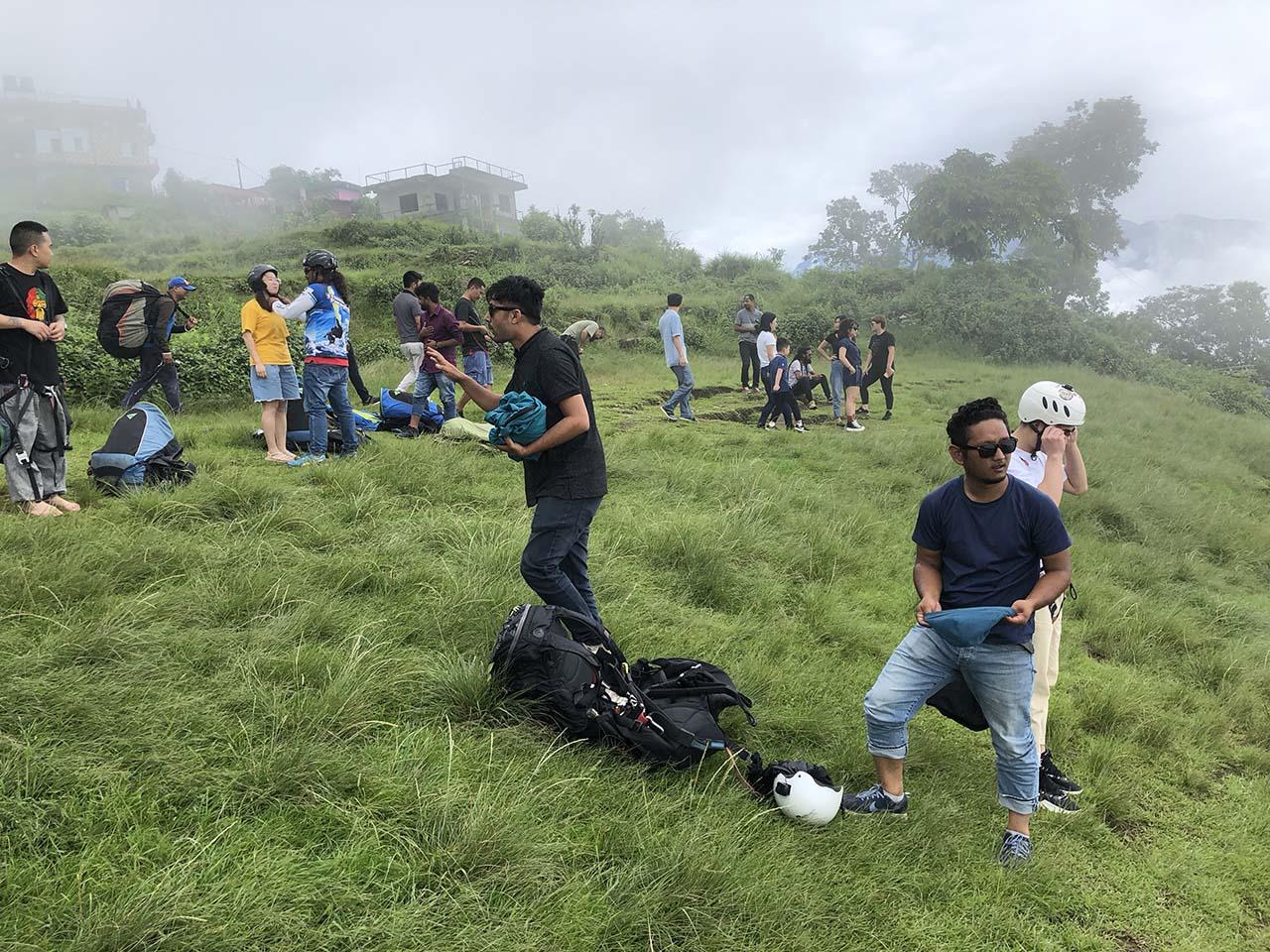 活成海报中的样子,带老婆挑战滑翔伞 ,尼泊尔博卡拉第4天