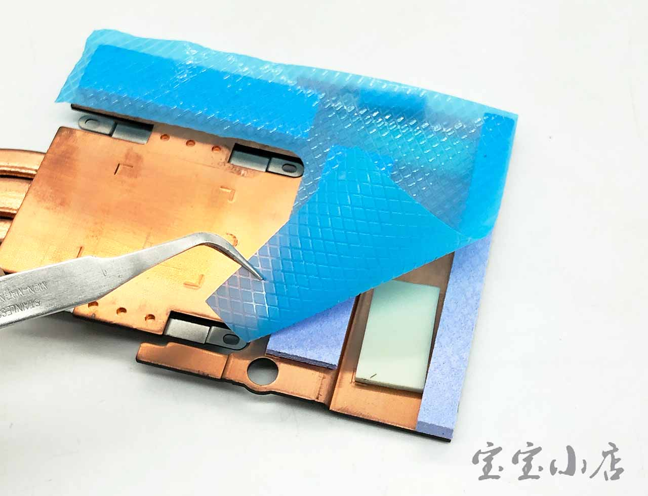 蓝天CLEVO P870 P870DM2 GPU 散热模组铜管 6-31-P870N-302 Video Graphics card Cooling radiator heatsink