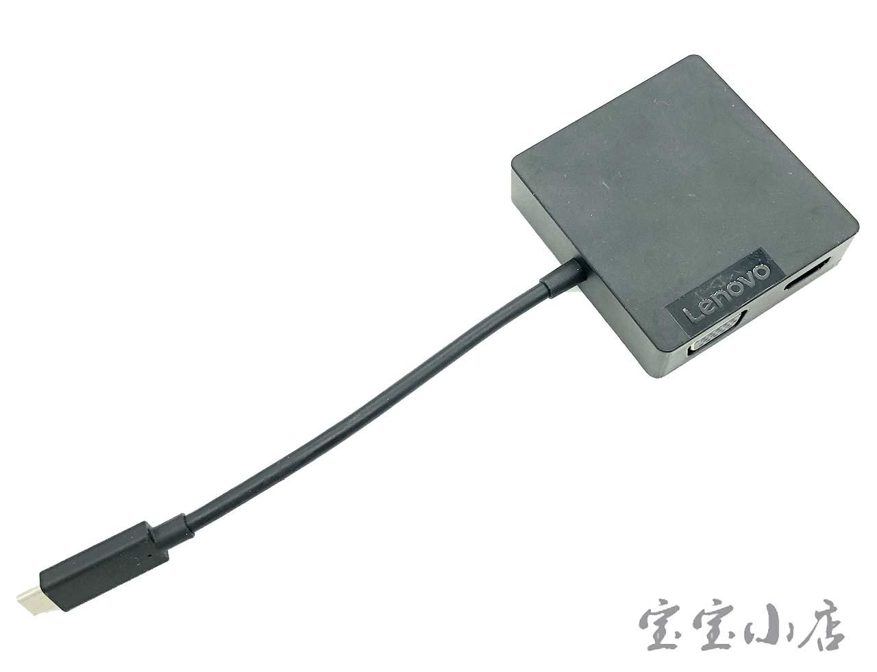 联想USB-C便携式端口扩展器travel hub 4X90M60793 USB转HDMI网卡口