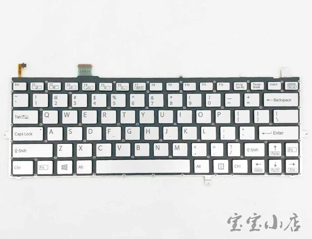 全新索尼Sony Vaio Duo SVD132 英文背光键盘 白 灰黑 Backlit Keyboard US 149245412US HMB3359SMA11